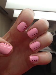 Love the hype about nails! Funky Nails, Cute Nails, Pretty Nails, Easter Nail Designs, Cute Nail Designs, Hair And Nails, My Nails, Nailart, Polka Dot Nails