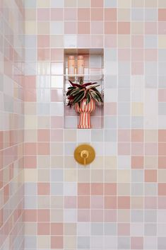Let's Talk Bathrooms! - Oh Joy! Toilet Paper Roll Holder, Paper Roll Holders, Pastel Bathroom, Colorful Bathroom, Hay Design, Fireclay Tile, Clay Tiles, Bathroom Wallpaper, Wet Rooms
