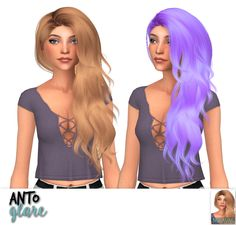 Nessa sims: Anto`s glare,heartbeat,hide,mollie,nana and roses hair retextured • Sims 4 Hairs