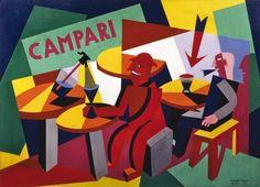 Fortunato Depero, Squisito al selz Campari, collage su carte colorate Art Deco Illustration, Vintage Advertisements, Vintage Ads, Italian Futurism, Vintage Italian Posters, Futurism Art, Retro Poster, Advertising Poster, Advertising Design