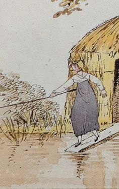 watercolour by diana sperling detail isabella fishing dynes hall