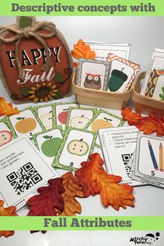Attributes Game: Fall Compare/Contrast (includes a Cariboo option! Social Skills Activities, Speech Therapy Activities, Language Activities, Fun Activities, Classroom Routines, Classroom Ideas, Social Communication Disorder, Reading Comprehension Passages, Prepositions