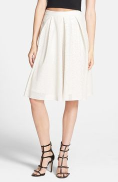 ASTR Perforated Faux Leather Midi Skirt available at #Nordstrom