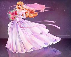 Aurora - Disney Wedding Princess designer by on DeviantArt Aurora Disney, Princesa Disney Aurora, Sleeping Beauty Princess, Disney Sleeping Beauty, Disney And Dreamworks, Disney Pixar, Disney Characters, Disney Bride, Disney Love