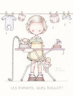 Почерковые рисунки-иллюстрации французской художницы Celine Bonnaud. Оригинал здесь.