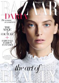 Daria Werbowy by Nico Bustos for Harper's Bazaar UK May 2016 cover - Philosophy di Lorenzo Serafini Spring 2016