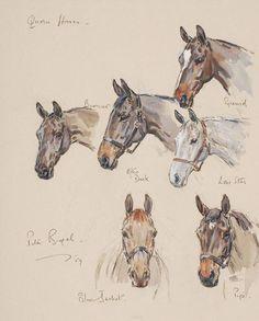 Quorn Horses, 1959, by Peter Biegel (1913-1988)