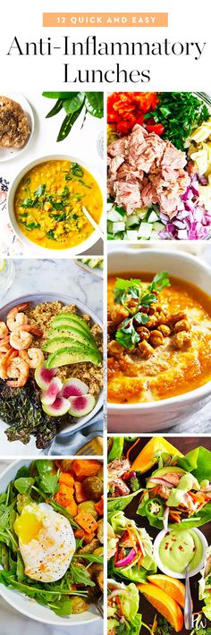 12 Easy (and Seriously Tasty) Anti-Inflammatory Lunches. #inflammation #antiinflammatory #lunchrecipes #healthyrecipes #healthyfood #wellness