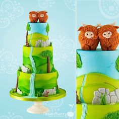 Cake & Co, Cake Art, 3rd Birthday, Birthday Cakes, Birthday Ideas, Happy Birthday, Nature Cake, Cow Cookies, Amazing Cakes