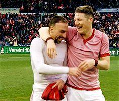 Franck Ribery and Bastian Schweinsteiger