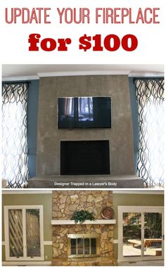 bb583489fc44 DIY Concrete Fireplace For Less than  100!