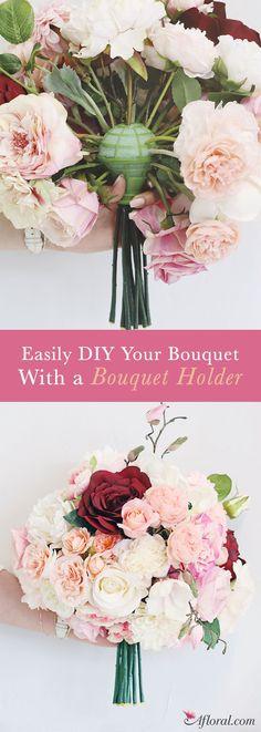 "David Tutera Gold Bridal Bouquet Holder - 7"" Tall"