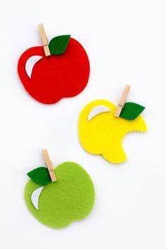 Easy Felt Apple Craft for Kids