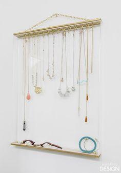 Acrylic & Gold Jewelry Organizer