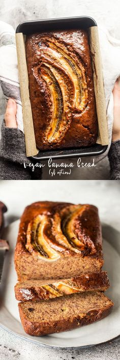 Eggless Banana Bread #banana #eggless #vegan #glutenfree #sugarfree #bananas #healthy #baking #dairyfree