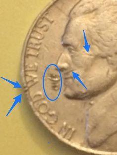 1977 Jefferson Nickel Lamination Error Coin