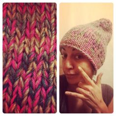 New green & pink camouflaged long beanie! KIY - Knit It Yourself For customized orders write to me at kiy.italy@gmail.com