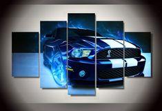 Shelby Mustang Voiture Image Peinture Murale Art Room Decor Affiche D'impression Photo Toile Salon Dé
