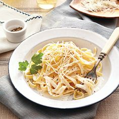 Cooking lights fettuccine Alfredo. Been my go to Alfredo for years. Add some puréed cauliflower and they'll never know