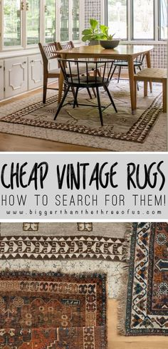 DIY Home Decor Inspiration : Illustration Description How to Search for Cheap Vintage Rugs online. Learn how to sort and find vintage rugs for cheap using these tips and tricks! Funky Home Decor, Vintage Home Decor, Cheap Home Decor, Diy Home Decor, Shabby Chic Vintage, Vintage Rugs, Asthma Remedies, Asthma Symptoms, Cheap Rugs