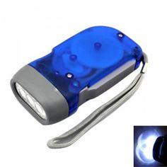 Dynamo Crank  3 LED Flashlight