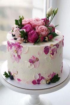 20 Amazing Wedding Cakes from Kasadelika – Hi Miss Puff Pretty Birthday Cakes, Pretty Cakes, Cute Cakes, Yummy Cakes, Elegant Birthday Cakes, Elegant Cakes, Cake Decorating Designs, Cake Decorating Techniques, Beautiful Cake Designs