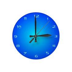 Plain Aqua/ Blue Illuminated  Kitchen Clocks