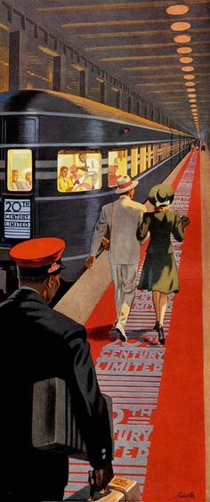 Ray Prohaska, 'New York to Chicago Overnight'  (1941) detail Magic Carpet
