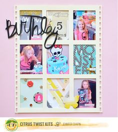 Jen Chapin for citrus twist kits Studio Calico, Happy Birthday, Scrapbooking, Thankful, Kit, Let It Be, Make It Yourself, Layout Inspiration, Learning