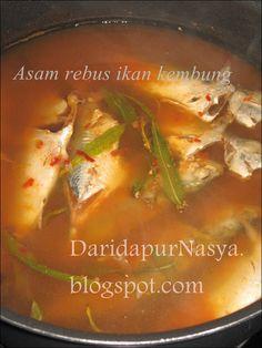 Dari Dapur NaSya: Asam rebus ikan kembung Asian Recipes, Ethnic Recipes, Awesome Kitchen, Fried Chicken, Cool Kitchens, Fries, Dan, Curry, Food And Drink