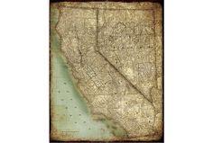 Picture-California Map II - Signature
