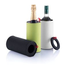 Wine cooler. Tin double wall cooler with fabric sleeve around.