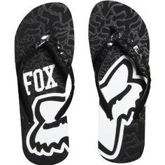 Fox Racing Revive Flip Flop Girls Sandal Racewear Footwear - Black / Size 8