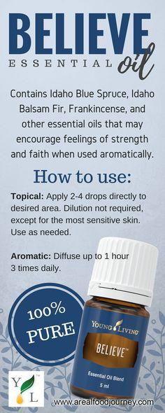 believe essential oil for inner strength