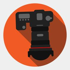 Vector art illustration of a camera from top view. Top View, Flat Design, Royalty Free Images, Game Art, Vector Art, Christian, Stock Photos, Illustration