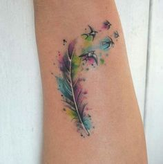 Colorful tattoo