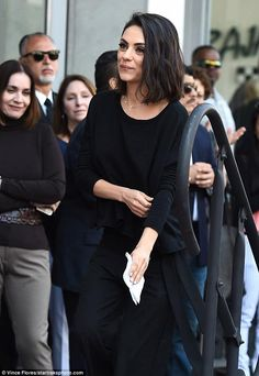 Zoe Saldana gets a star on the Hollywood Walk Of Fame in Los Angeles Lovely: The mother of two wore her short dark brunette hair loose with a touch of kohl lin… Short Curly Hair, Wavy Hair, Short Hair Cuts, Curly Hair Styles, Natural Hair Styles, Fringe Hairstyles, Loose Hairstyles, Short Dark Hairstyles, Hairstyles Videos