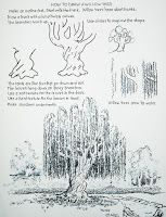 How to draw a willow tree worksheet