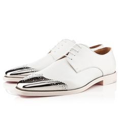 Christian Louboutin Gareth Zip Men's Flat White Leather