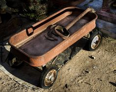 Rusty Wagon by Jeanne Hoadley Simple Things, Old Things, Toy Wagon, Rust Never Sleeps, Old Wagons, Old Toys, Old Pictures, Yard Art, Abandoned