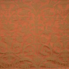 Fabricut Barclay Scroll-Pumpkin by Lillian August 3477902 Decor Fabric - Patio Lane introduces  the Lillian August collection of fabrics by Fabricut.