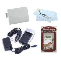 Replacement Battery For Canon LP-E5 1500MAH + 1 Hour Charger For Canon EOS 450D EOS 1000D Rebel XSI T1I + Free LCD Screen Protectors + ButterflyPhoto MicroFiber Cleaning Cloth (Electronics)