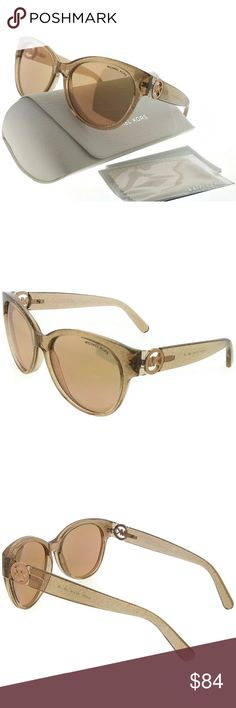 MK6026-3097R1 Women's Champagne Frame Sunglasses New gorgeous authentic Michael kors MK6026-3097R1 crystal champagne frame rose gold lens 57mm genuine sunglasses with stylish look. Michael Kors sunglasses are created with a polished, sleek, sophisticated American sportswear attitude and style in mind. Michael Kors mission is to bring you a vision of a jet-set,luxury lifestyle to women and men around the globe. MICHAEL KORS Accessories Sunglasses