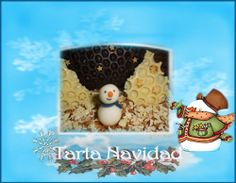 Tarta de Navidad de turrón. http://ljardindelasdelicias.blogspot.com.es/2013/10/tartas.html
