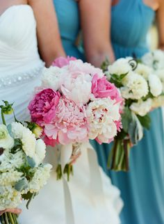 Pink Peony Bouquet - On http://www.StyleMePretty.com/northwest-weddings/2014/03/24/jackson-hole-wedding-at-shooting-star/ CarriePattersonPhotography.com on #SMP