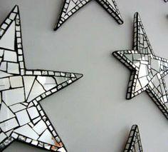 shine on- mirrored mosaic stars #stars #want