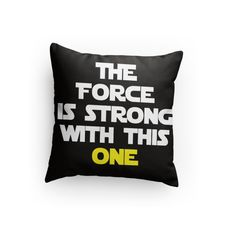 """Star Wars Quote Custom 14"""" x 14"""" Pillow - Great Gift for Any Star Wars Fan! Perfect Pillow Fight Pillow! Valentine's Day Gift Idea! by RockYourWalls on Etsy https://www.etsy.com/listing/266656236/star-wars-quote-custom-14-x-14-pillow"""