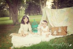 Vintage tea party picnic