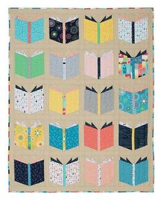 The Book Nerd quilt is perfect for the reader in your life. You know, the one who always carries a book with them or talks endlessly about what they are currently reading. It might be a friend or it might be you! The Book Nerd Quilt is not only Fat Quarter friendly, it is also