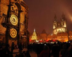 Prague's Old Town, Astronomical Clock, Tyn Church, and Christmas markets